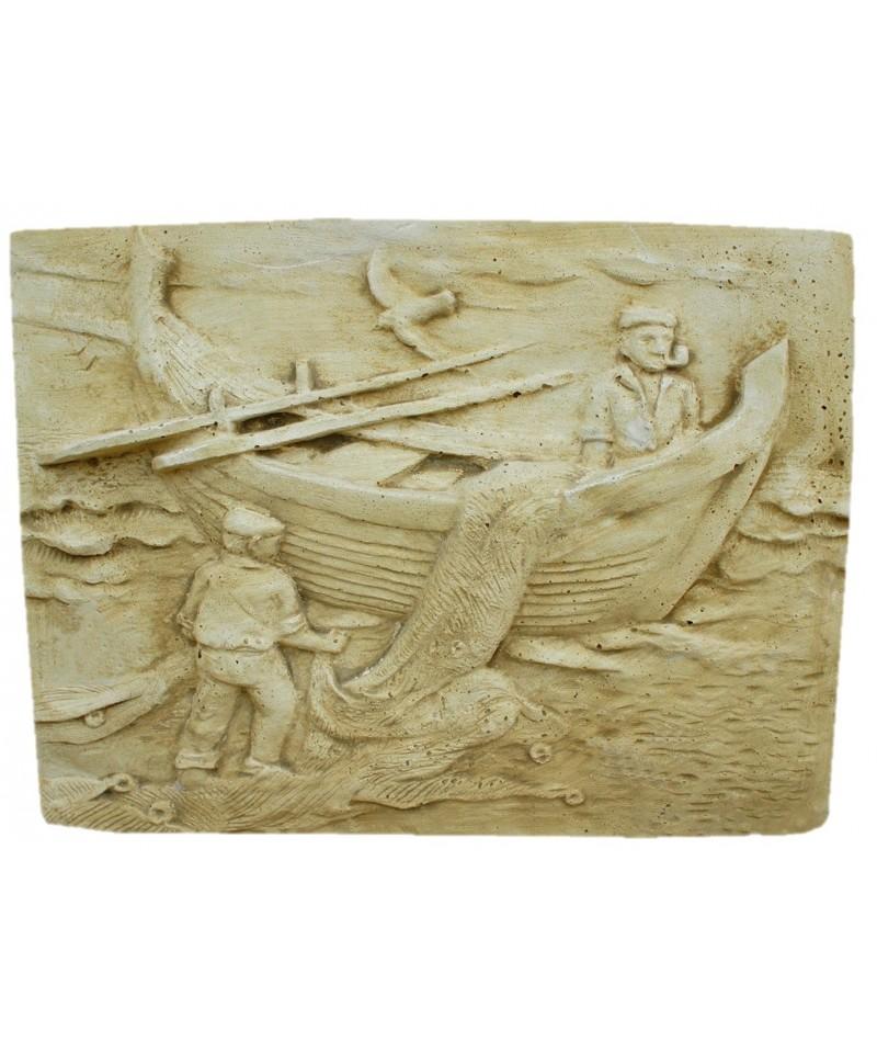 Plaque Murale P Cheur Barque Mat Riaux Collic