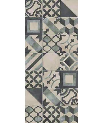 Carrelage imitation carreaux de ciment carrés gris, anthracite et noir Terra