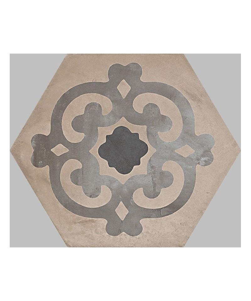 carrelage imitation carreaux de ciment en hexagone marque. Black Bedroom Furniture Sets. Home Design Ideas