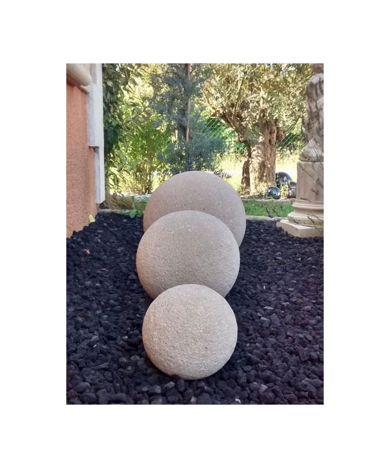 Boule décorative en pierre reconstituée | Matériaux Collic