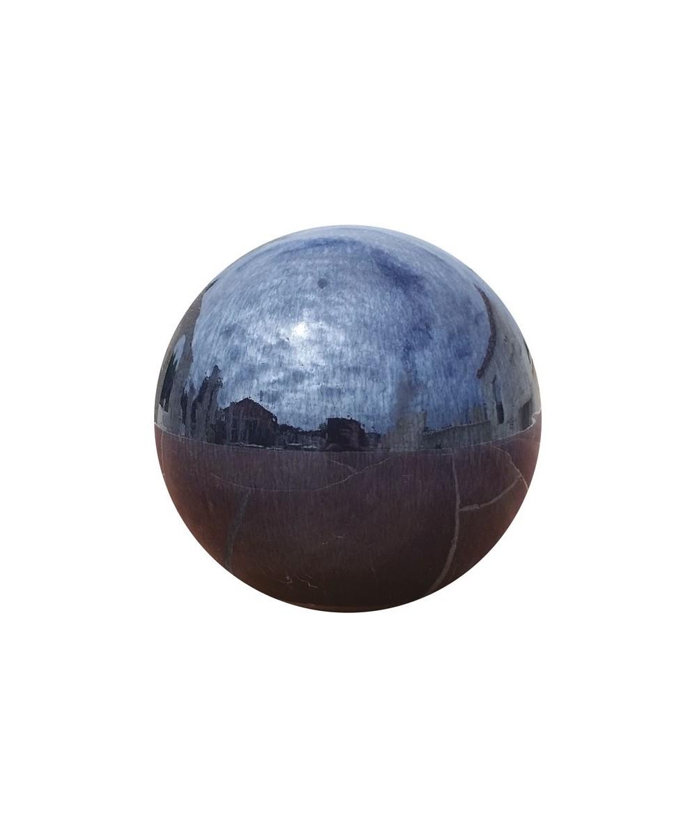 Boule décorative en terre cuite émaillée