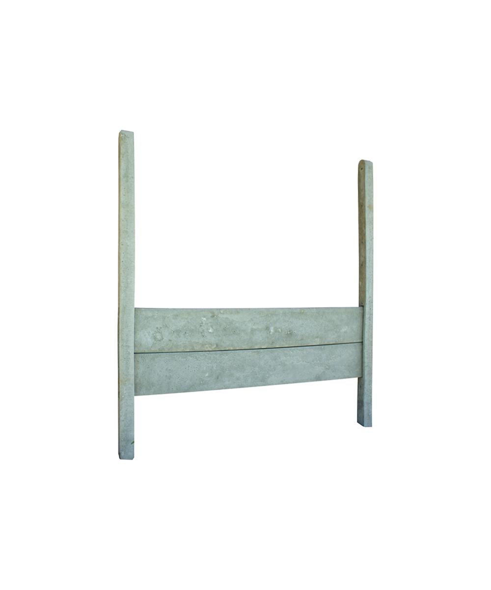 poteau b ton 10x10 cl ture mixte feuillure basse. Black Bedroom Furniture Sets. Home Design Ideas